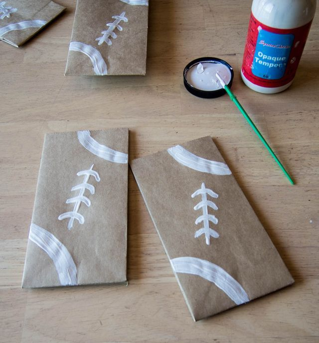 Football Snack Bags Someday Crafts Homecoming