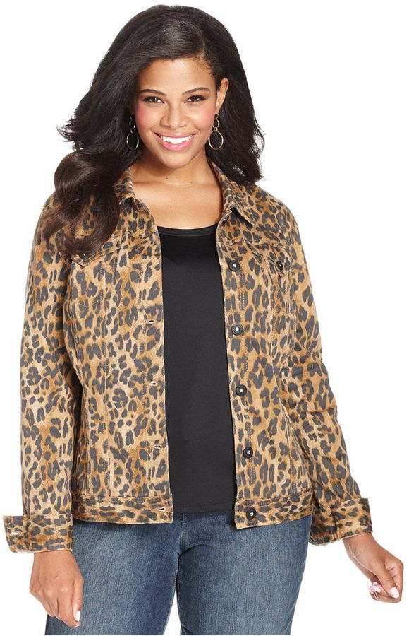e67b7f813a31 Style&co. Plus Size Animal-Print Denim Jacket on shopstyle.com ...