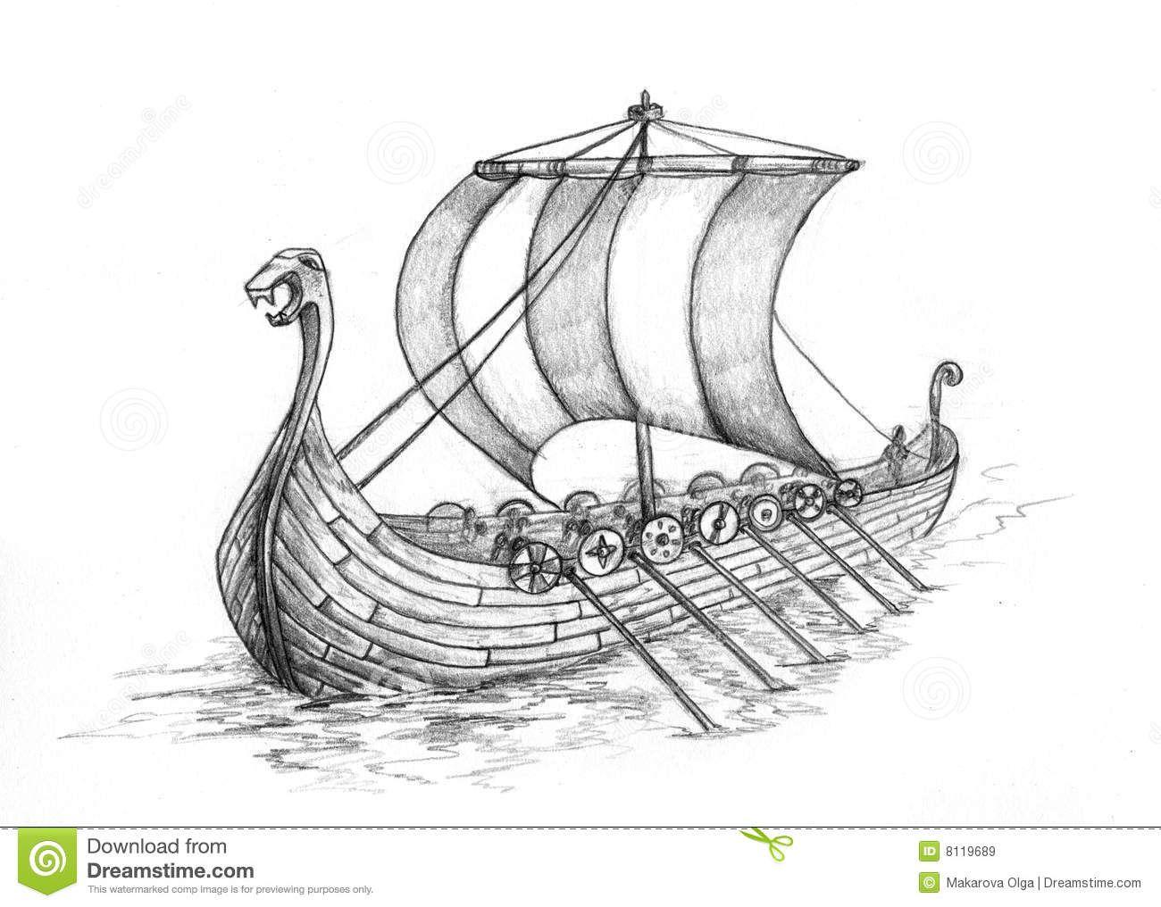 Viking Ship 1 Viking Ship Tattoo Viking Ship Ship Drawing