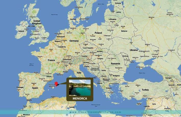 MENORCA Balearic Islands Spain map location Menorca