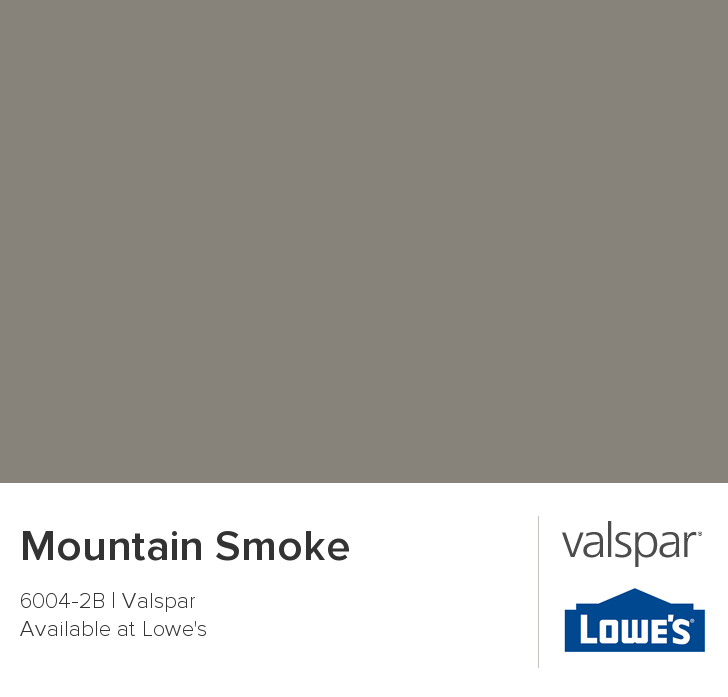 Mountain Smoke From Valspar Wall Color For Living Room With Fireplace
