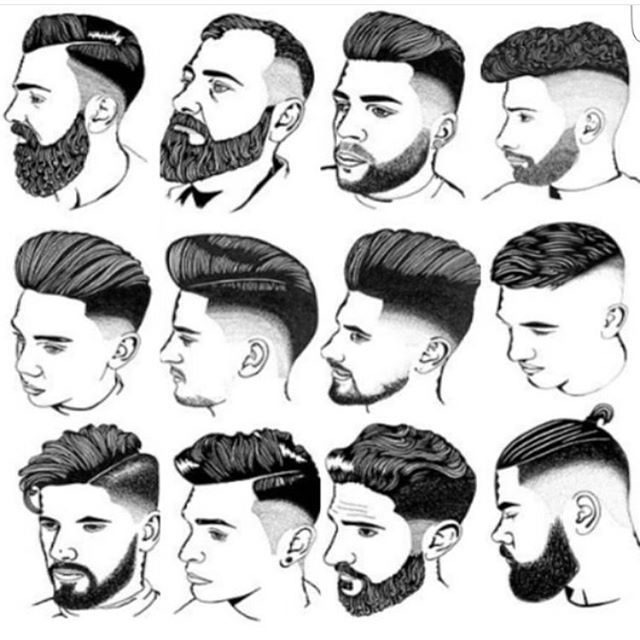 Image result for men's hairstyles diagrams