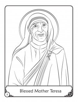 Free Blessed Mother Teresa coloring pages | Catholic Kids Saints ...