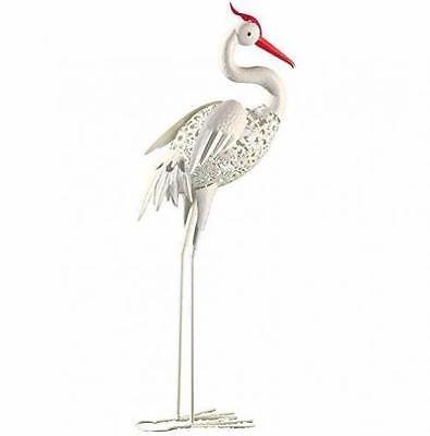 Elegant Garden Decor Bird Statuary Rustic Crane Decor 36 Statues Regal Art U0026 Gift  NEW