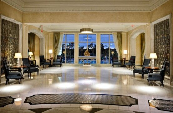 waldorf astoria orlando lobby at dusk luxery hotels in florida