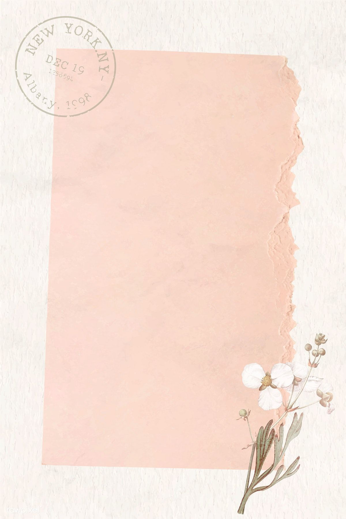 Download premium vector of Crumpled ripped pink paper background vectorbackground