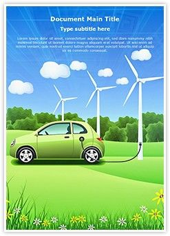 Hybrid Car Word Doent Template Is One Of The Best Templates Editabletemplates