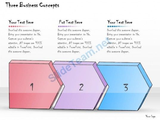 1013 business ppt diagram three business concepts powerpoint