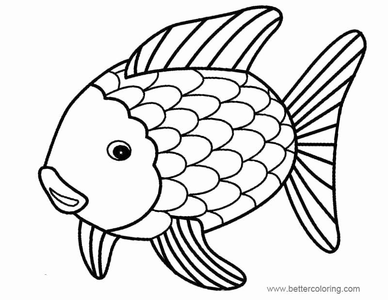 Rainbow Fish Coloring Page Beautiful Rainbow Fish Coloring Pages Easy Drawing Free Printable Unicorn Coloring Pages Fish Coloring Page Rainbow Fish Template