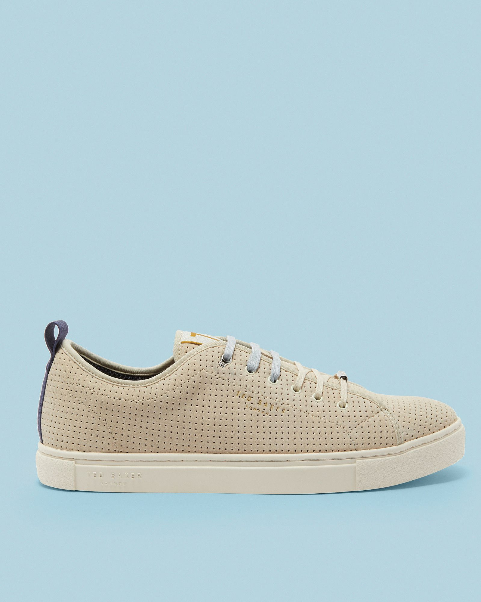 Ted Baker Suede plimsole trainers Grey