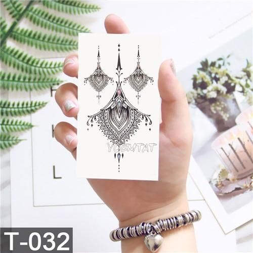 Waterproof temporary tattoo stickers on the body art temporary men tattoos lines rose fake tattoo stickers temporary tattoos  Products