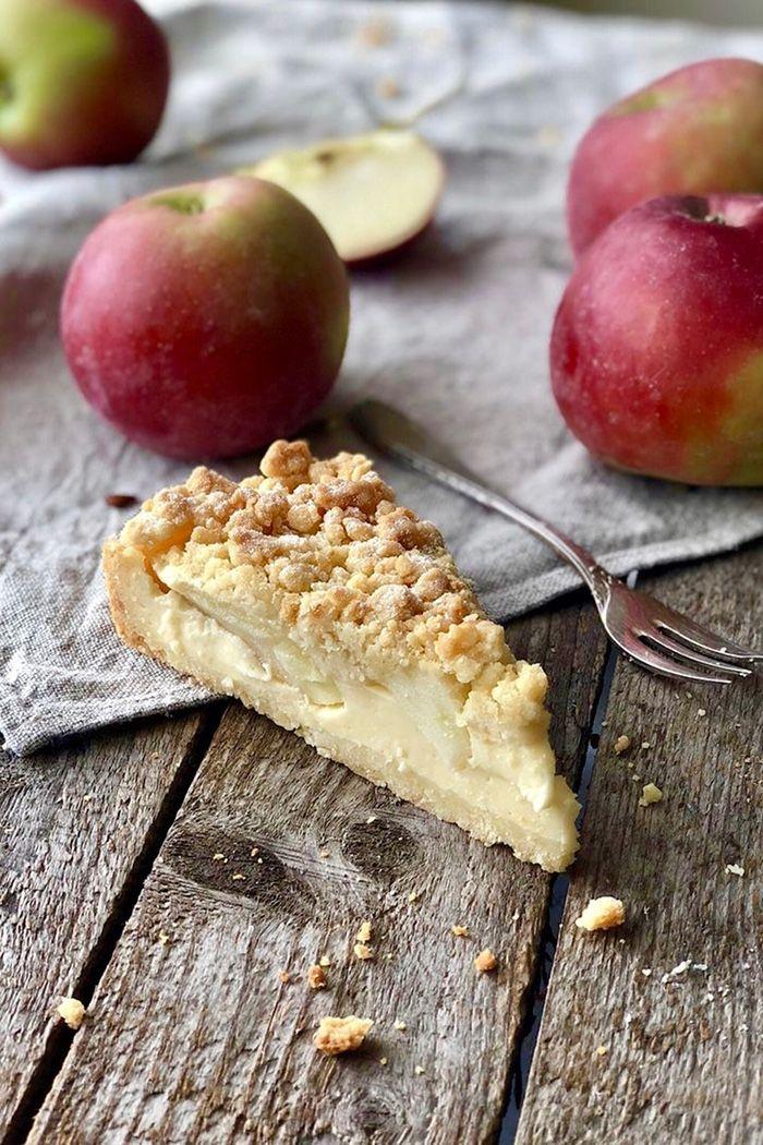 Apfel Streusel Tarte mit Vanillepudding - Lissi's Passion #fallrecipesdinner