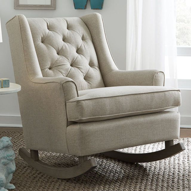 Best Chairs Grayson Wingback Rocking Chair Riverloom Sand
