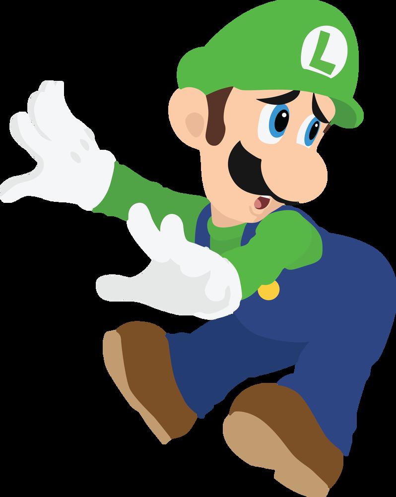 Luigi 09 Smash Bros Ultimate Vector Art by