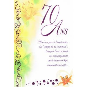Carte Anniversaire 70 Ans Cartes Postales Invitations