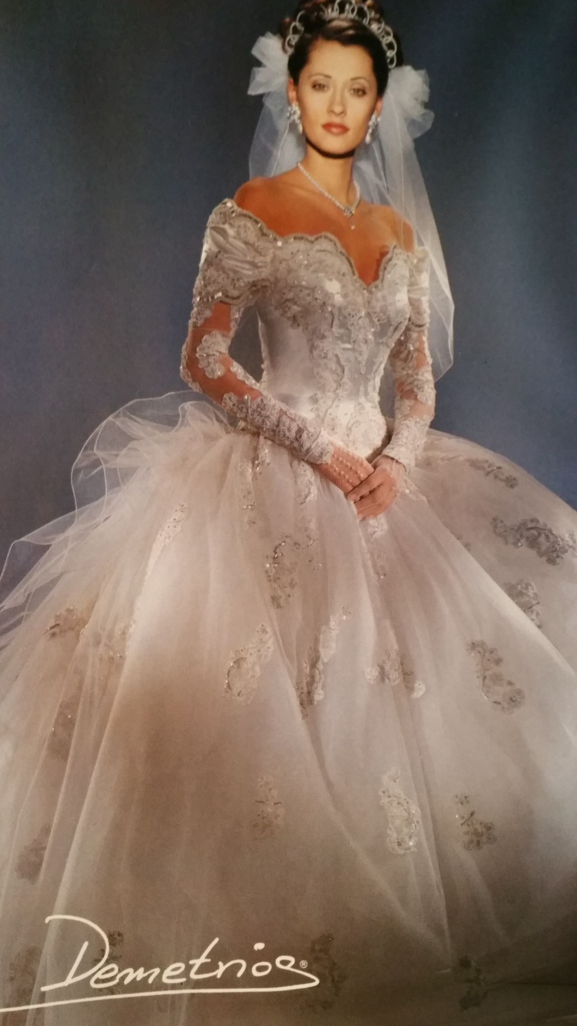 Demetrios 1994 Vintage Wedding Dress Designers Wedding Dresses