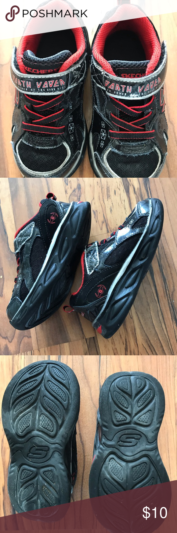 Sketchers Darth Vader tennis shoes size 9 These have been a favorite Darth Vad  Sketchers Darth Vader tennis shoes size 9 These have been a favorite Darth Vad