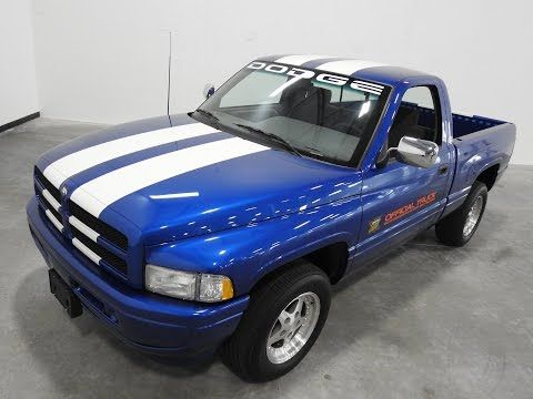 1996 Dodge Ram 1500 Pacetruck 5 9 Liter Efi V8 4sp Auto 3 91 Suregrip Axle Dodge Trucks Ram Dodge Ram Dodge