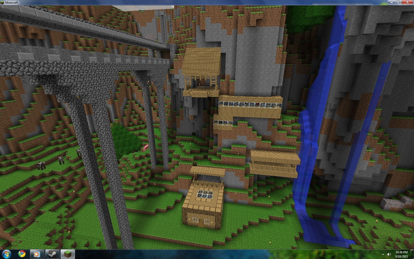 Mountain Side House Minecraft