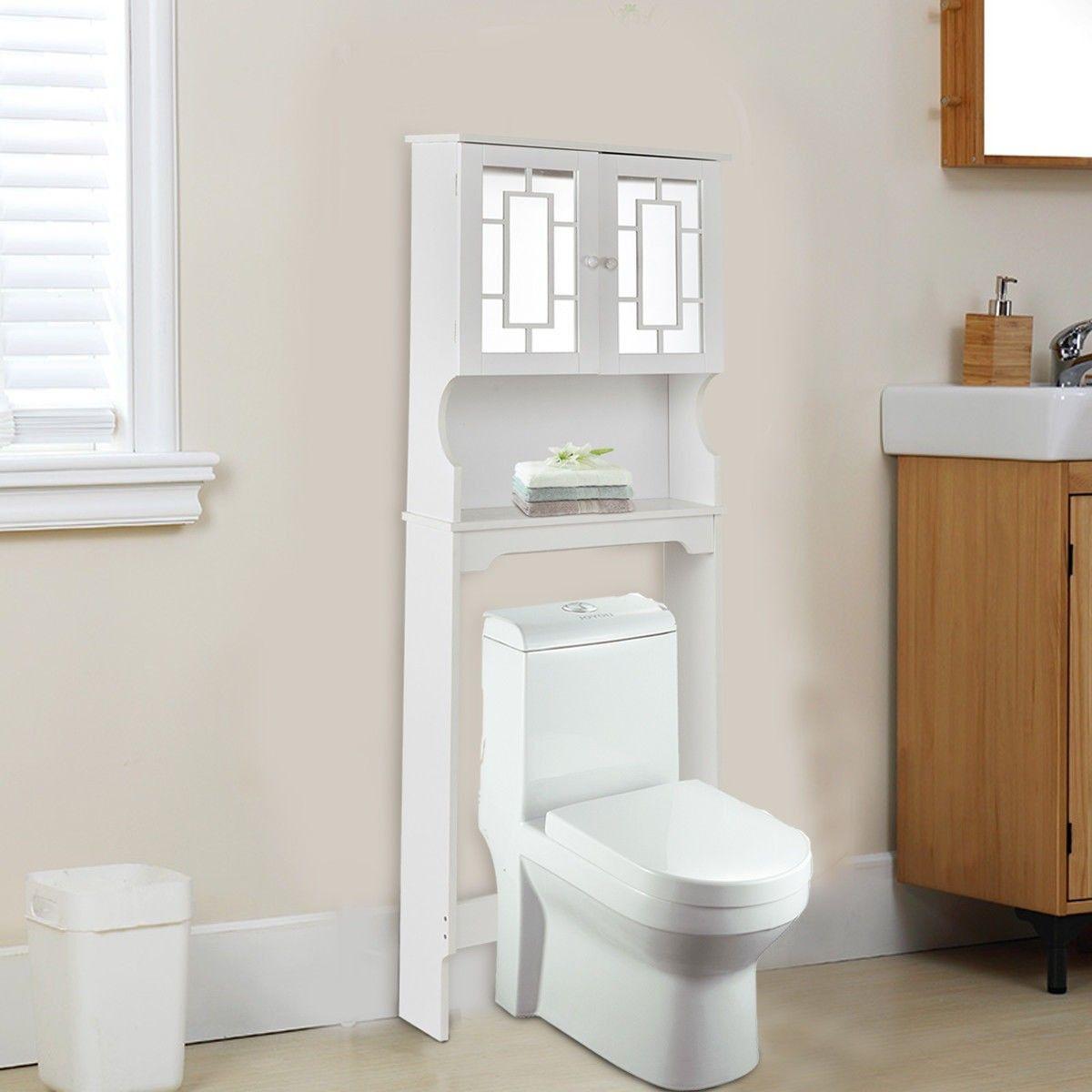 Bathroom Over Toilet Space Saver #Storage Cabinet Shelf | Hardware ...