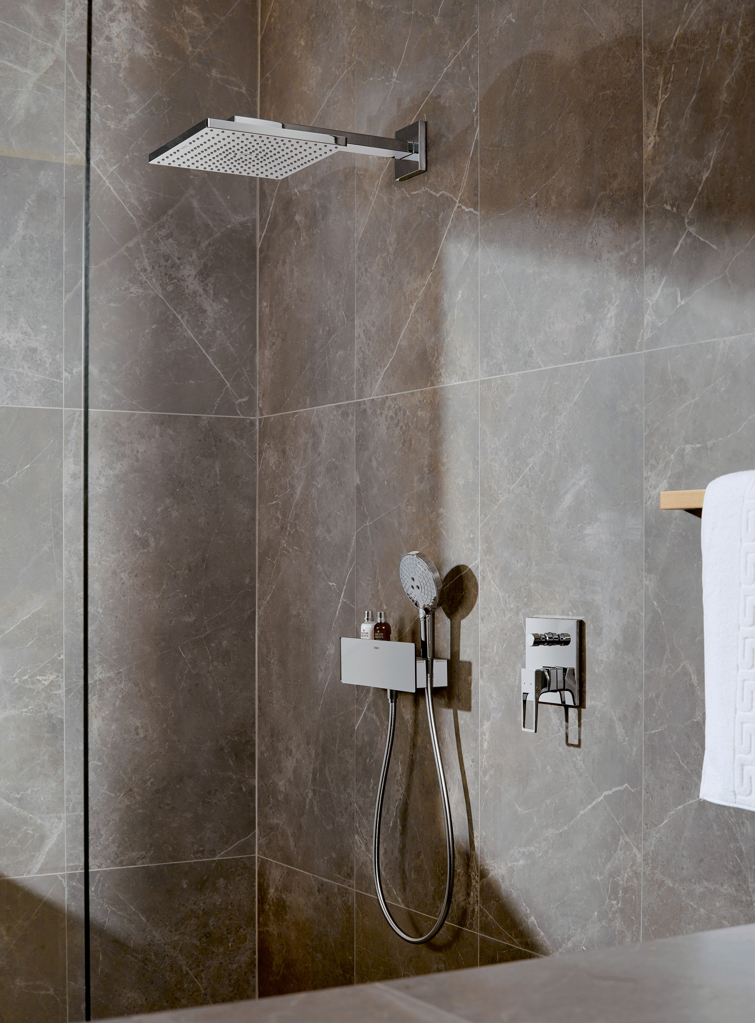 The Hansgrohe Raindance Rainfall Overhead shower is