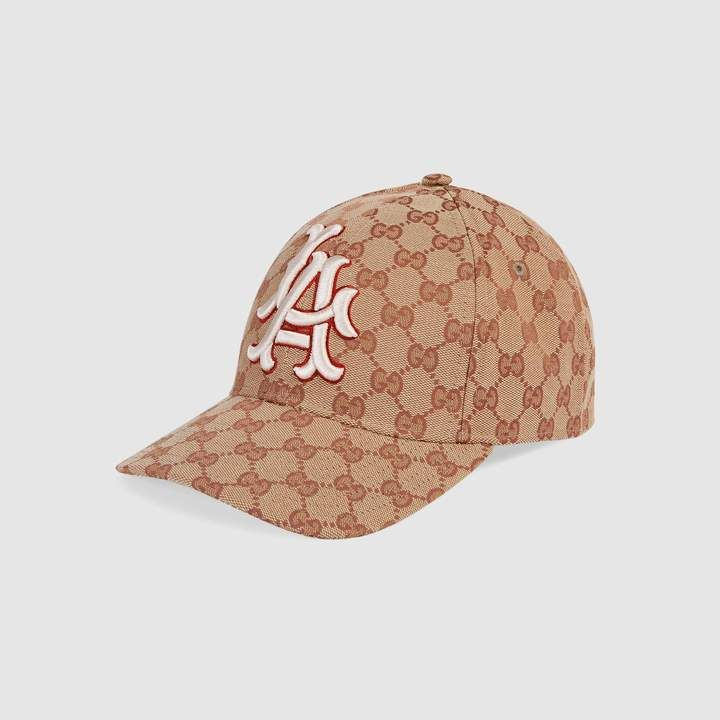 b6b010afbd752 Gucci Mahogany Caleido Brown and Black GG Logo Leather and Mesh Baseball  Hat Size  XXL 426887 in 2019