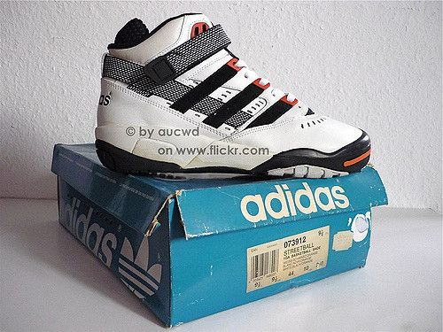UNWORN 80`S 90`S VINTAGE ADIDAS STREETBALL Basketball HI SHOES