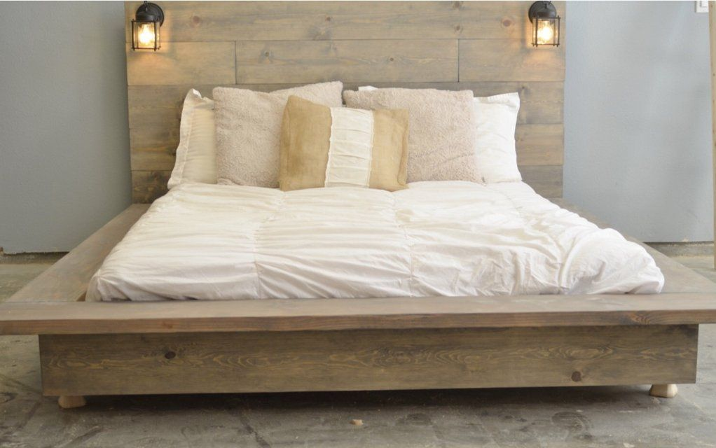 Wood Bed Platform Floating Twin Full Queen King Cali In Camp Lejeune Wood Platform Bed Frame Wood Platform Bed Diy Platform Bed