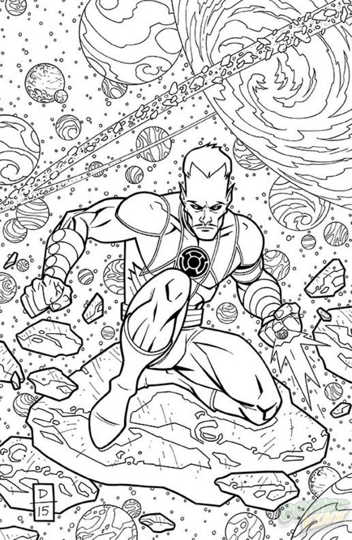 sinestro 19 coloring book variant cover comic books and cats