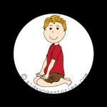 héroe Pose niños historias de yoga