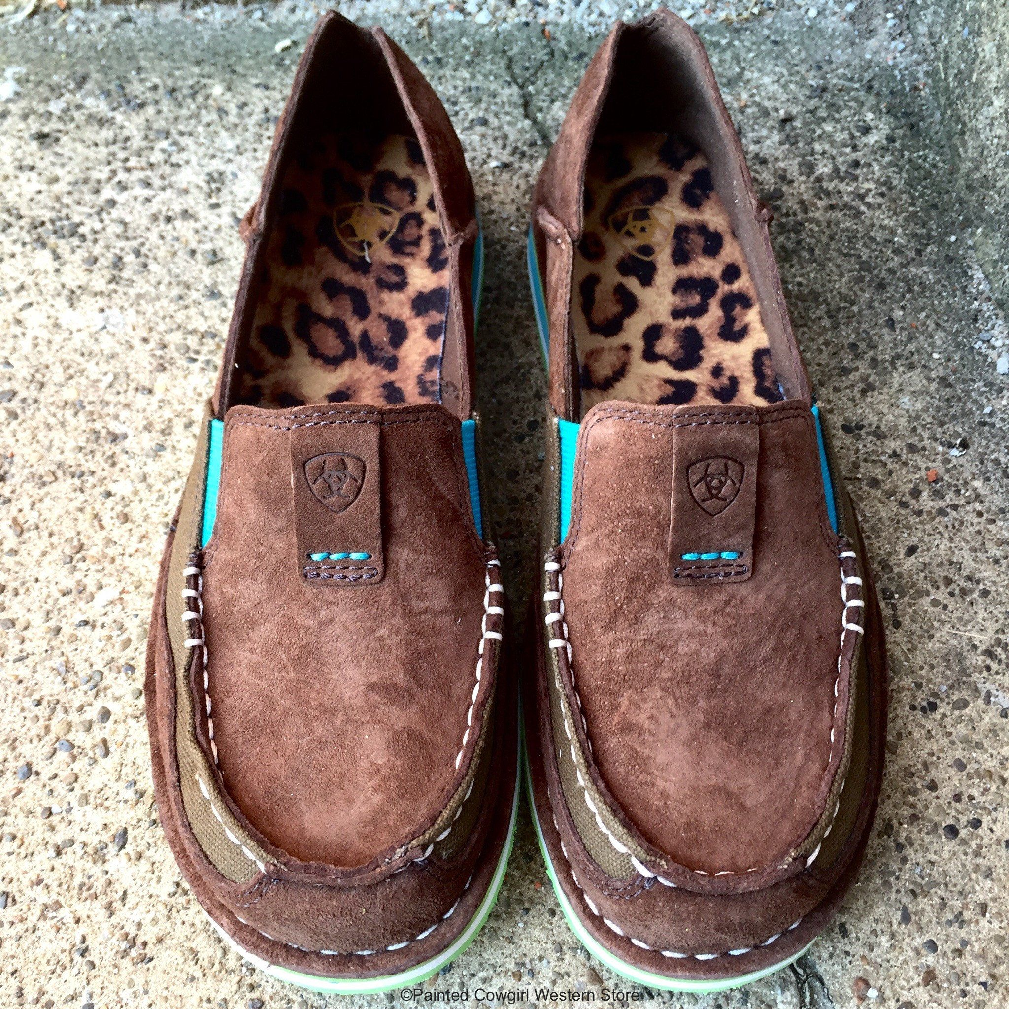 Ariat Women's Palm Cruiser Brown & Turquoise Slip-On Shoe 10017457 ...