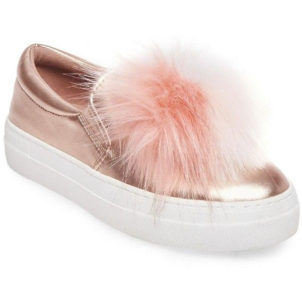 df0dc3ccc5c Steve Madden Women's Great Leather Faux Fur Sneakers (160 PEN ...