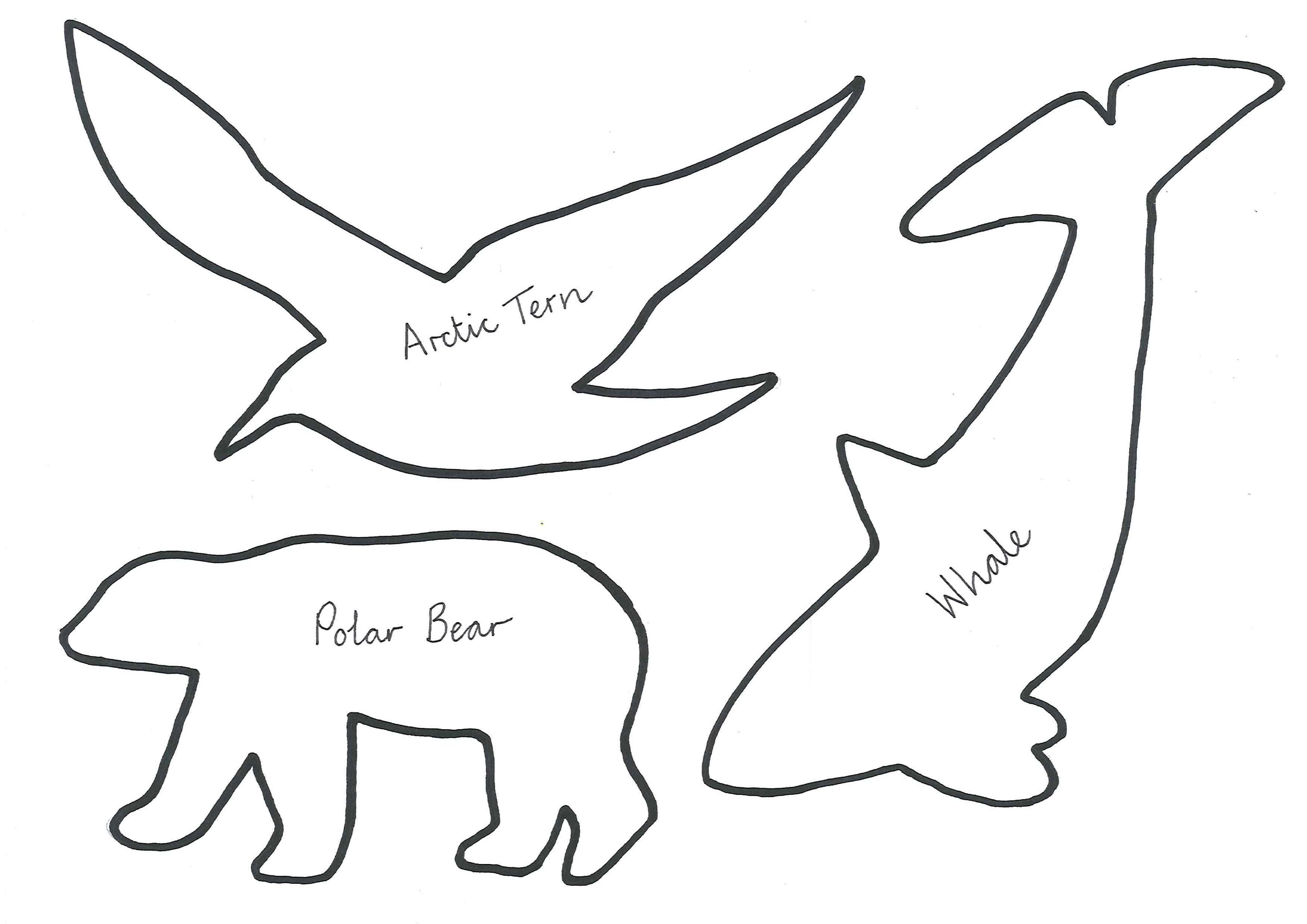 Arctic Animal Templates Polar Bear Arctic Tern Whale Soap