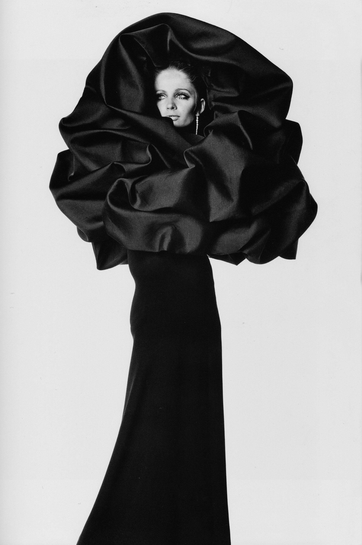 Irving Penn photographed Veruschka in Balenciaga for Vogue, 1967.