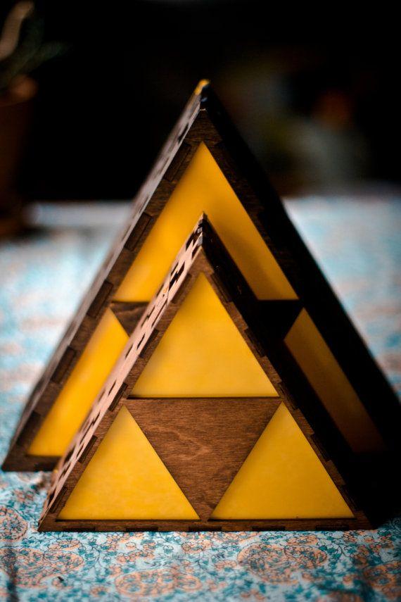 Beautiful Zelda Triforce Lamp MINI HYRULE LOGO By TheBackPackShoppe On Etsy