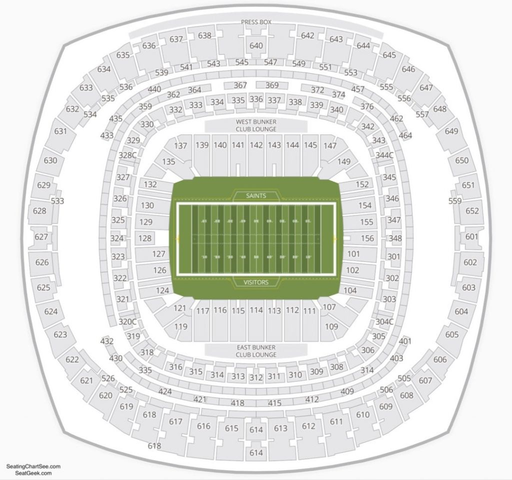 Mercedes Benz Superdome Seating Chart