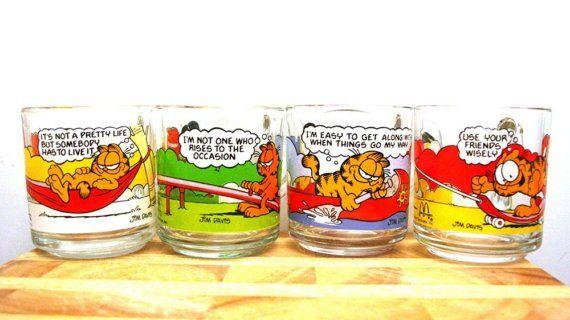 Garfield Glass Coffee Mug Collection
