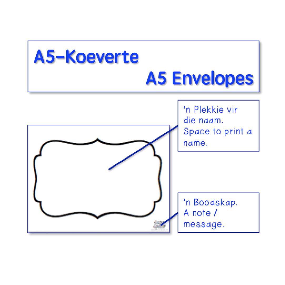A5 Koeverte Envelopes