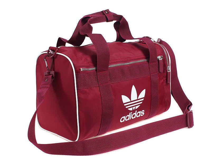 21a02c99364 adidas Adi-Color Duffle Gym Bag Unisex Medium Bag AC Burgundy Soccer CW0615  #adidas #DuffleGymBag
