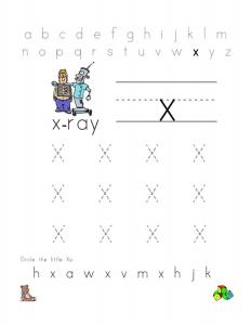 Free Letter X Worksheets For Preschool