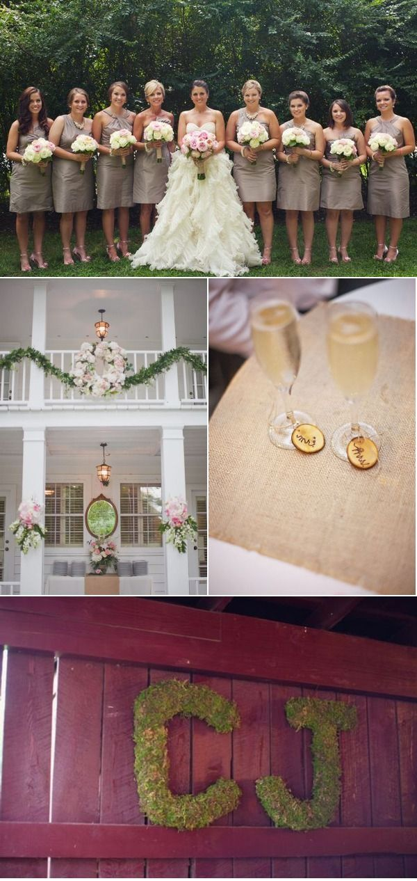 #cedarwoodweddings    I love the wine tags on the glasses  Historic Cedarwood Wedding by Cedarwood Weddings + Souder Photography | Style Me Pretty