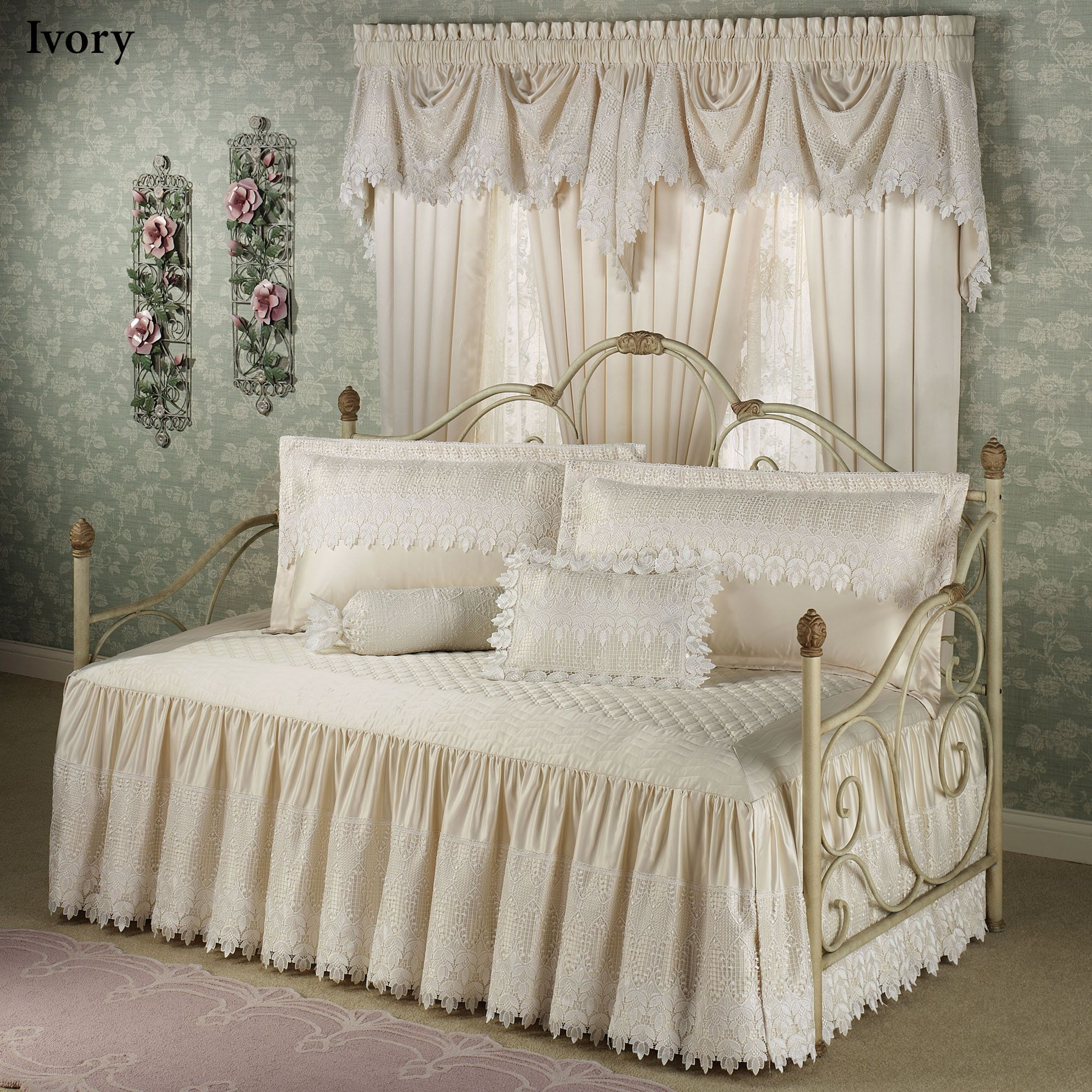 Overstock daybed bedding home design ideas - Bedrooms Trousseau Lace Daybed Bedding