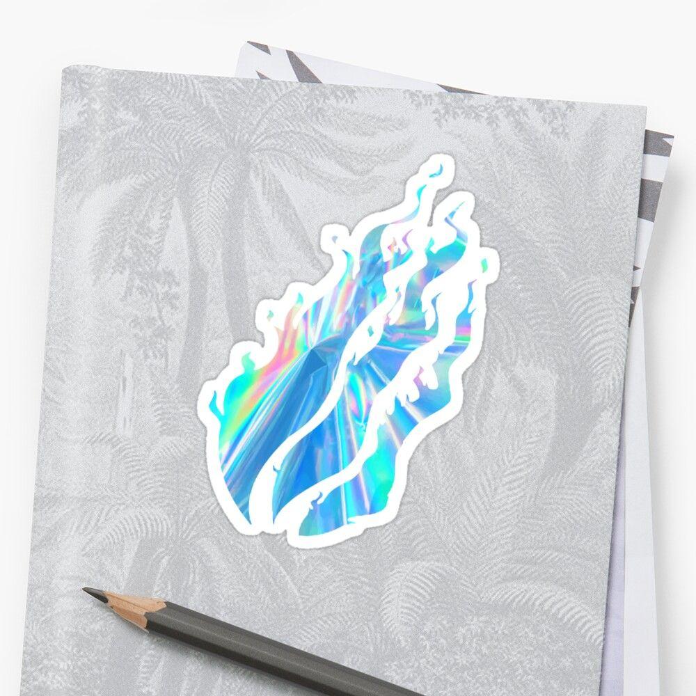 'iridescent style prestonplayz fire flames ' Sticker by