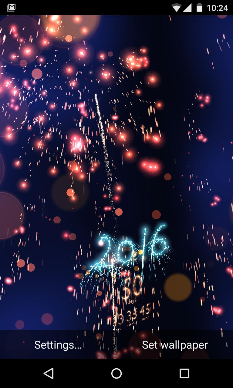 New Year Countdown 2016 live wallpaper New years