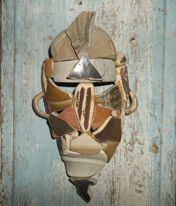 sea porcelain tribal mask