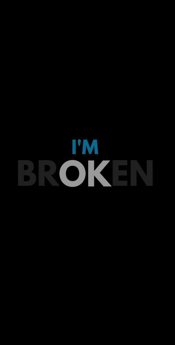 Broken Heart Iphone Wallpaper Darkiphonewallpaper Heart Iphone Wallpaper Broken Heart Wallpaper Words Wallpaper