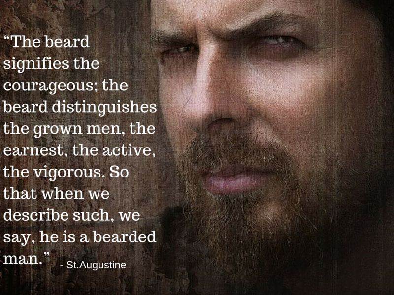 Image result for st augustine beard