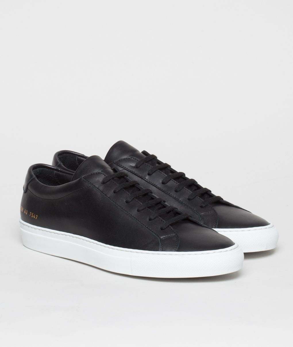 44f4883298703 Common Projects Achilles Low Black White