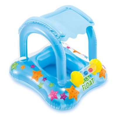 Intex Kiddie Float With Sun Shade And Toys Blue In 2019 Children Swimming Pool Toddler Swimming Pool Baby Float