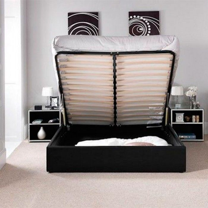 Genial Chanel Ottoman Storage Gas Lift Bed   Luxury Leather Beds   Beds.co.uk